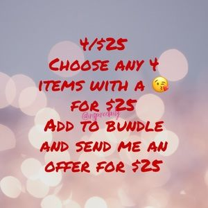 4/$25 Mix and Match 😘